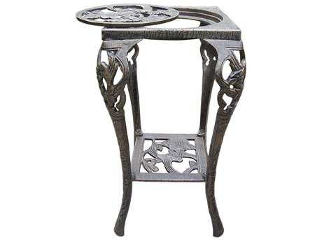 Oakland Living Hummingbird Cast Iron Table Plant Stand in Antique Bronze