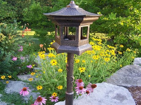 Oakland Living Lantern Cast Aluminum Bird House in Antique Bronze