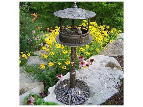 Oakland Living Lantern Cast Aluminum Sun God Bird House in Antique Bronze
