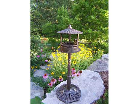 Oakland Living Lantern Cast Aluminum Romance Bird House in Antique Bronze
