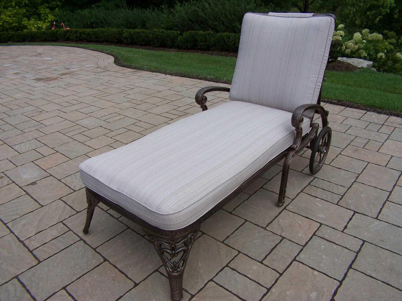 Oakland Living Mississippi Cast Aluminum Chaise Lounge On