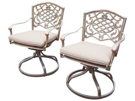 Oakland Living Mississippi Aluminum Pair Swivel Rockers with Cushions Pack 2