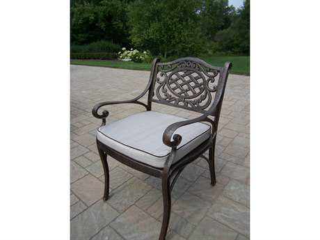 Oakland Living Mississippi Cast Aluminum Arm Chair with Cushion