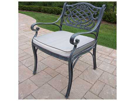 Oakland Living Mississippi Cast Aluminum Durable Arm Chair