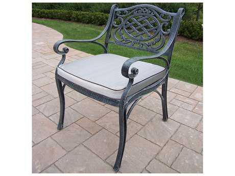 Oakland Living Mississippi Cast Aluminum Durable Arm Chair