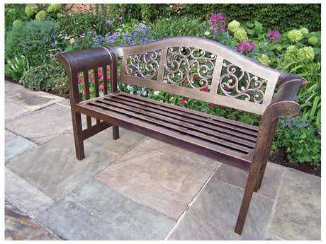 Oakland Living Mississippi Aluminum Royal Bench Settee PatioLiving