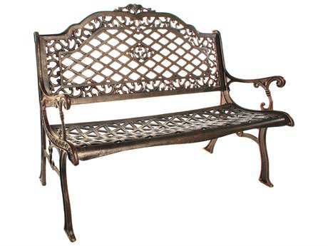 Mississippi Cast Aluminum High Back Bench Settee