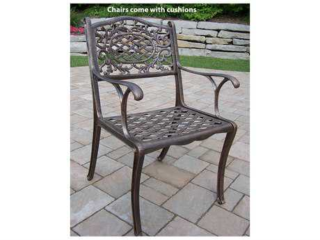 Oakland Living Mississippi Cast Aluminum Arm Chair