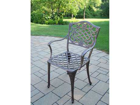 Oakland Living Mississippi Cast Aluminum Arm Chairs Pack of 4
