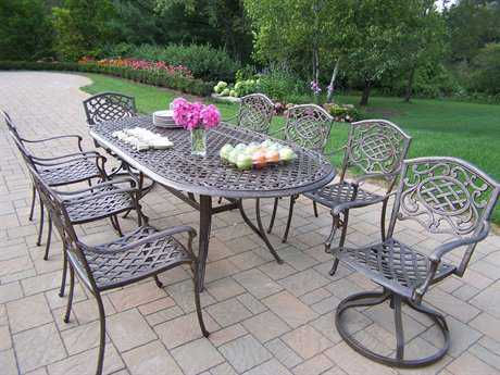 Oakland Living Mississippi 9pc Cast Aluminum 9 Pc. Dining Set