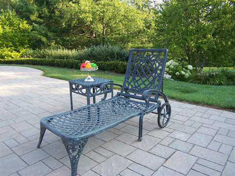 Oakland Living Mississippi Cast Aluminum 2 Pc. Lounge set
