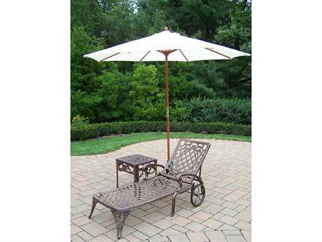 Oakland Living Mississippi Cast Aluminum 4 Pc. Lounge Set