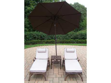 Oakland Living Mississippi Cast Aluminum Lounge Set