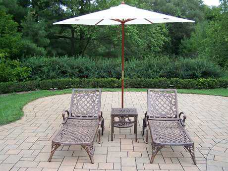 Oakland Living Mississippi Cast Aluminum 5 Pc. Lounge Set