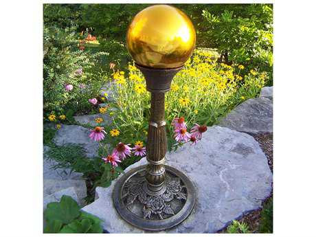 Oakland Living Mississippi Cast Aluminum Yellow Gazing Ball