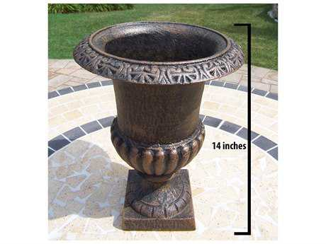 Oakland Living Mississippi Cast Iron Roman 8 inch Urn