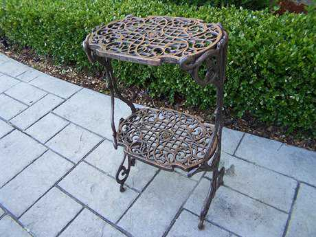 Oakland Living Mississippi Cast Iron 2 Level Plant Stand