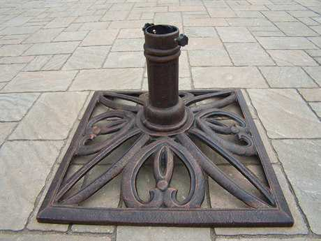 Oakland Living Mississipi Cast Iron Square Umbrella Stand in Antique Bronze