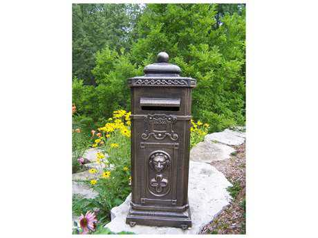 Oakland Living Cast Aluminum Kensington Decorative Mail Box in Antique Bronze