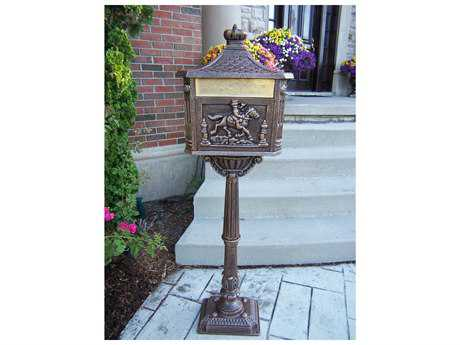 Oakland Living Cast Aluminum Chelsea Mail Box in Antique Bronze