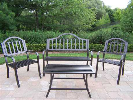 Oakland Living Rochester Wrought Iron4 Pc. Seating Lounge Set