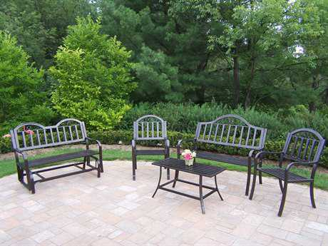 Oakland Living Rochester Wrought Iron 5 Pc. Seating Set