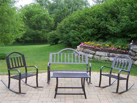 Oakland Living Rochester Wrought Iron 4 Pc. Rocker Set