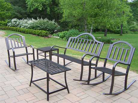 Oakland Living Rochester Wrought Iron 5 Pc. Rocker Set