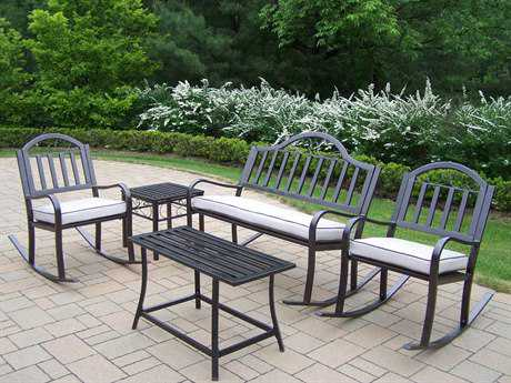 Oakland Living Rochester Wrought Iron Rocker Set