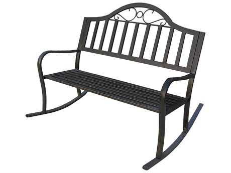 Oakland Living Rochester Wrought Iron Rocking Bench