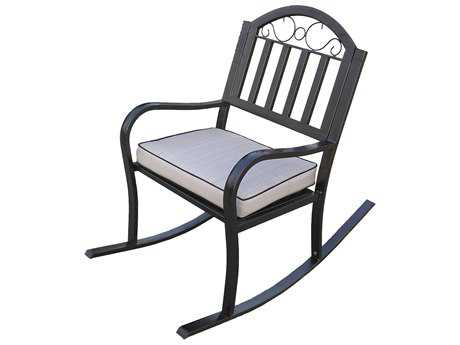 Oakland Living Rochester Wrought Iron Rocker Chair