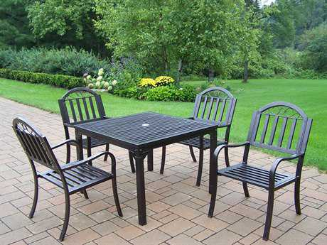 Oakland Living Rochester Wrought Iron 5 Pc. Dining Set PatioLiving