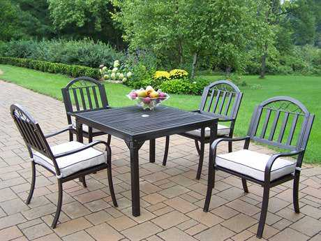 Oakland Living Rochester Wrought Iron5 Pc. Dining Set with Cushions