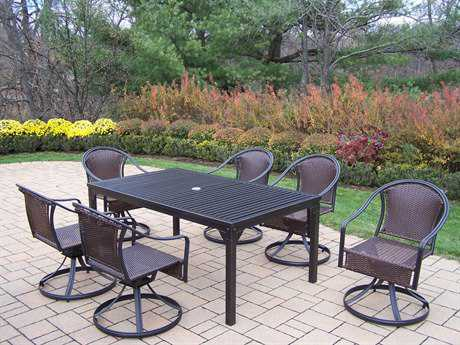 Oakland Living Rochester Tuscany Wrought Iron 7 Pc. Dining Set