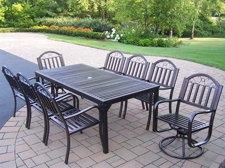 Oakland Living Rochester Wrought Iron 9 Pc. Dining Set