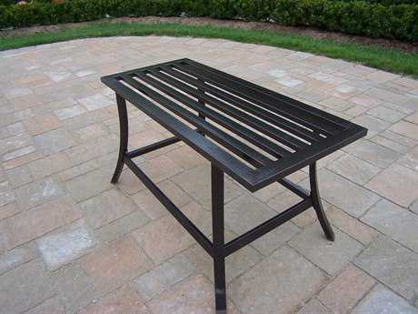 Oakland Living Rochester Wrought Iron 36 x 16 Rectangular Coffee Table PatioLiving