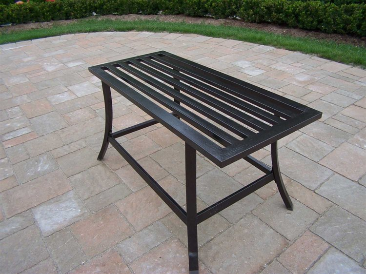 Oakland Living Rochester Wrought Iron 36 x 16 Rectangular Coffee Table