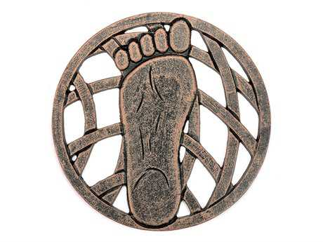 Oakland Living Cast Aluminum Stepping Stone Left Foot in Antique Bronze