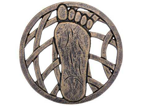Oakland Living Cast Aluminum Stepping Stone Right Foot in Antique Bronze