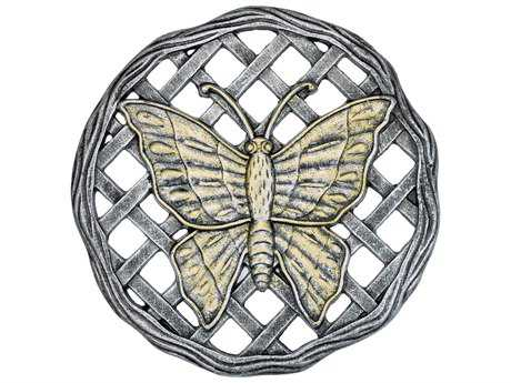 Oakland Living Cast Aluminum Stepping Stone Butterfly in Antique Pewter
