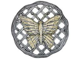 Cast Aluminum Stepping Stone Butterfly in Antique Pewter