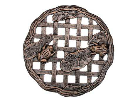 Oakland Living Cast Aluminum Stepping Stone Frog in Antique Bronze PatioLiving