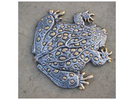 Oakland Living Cast Aluminum Frog Steeping Stone in Antique Pewter