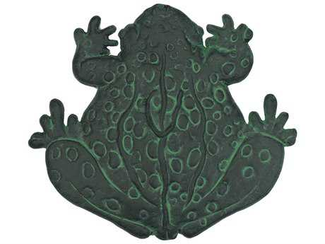 Oakland Living Cast Aluminum Frog Stepping Stone in Verdi Gree