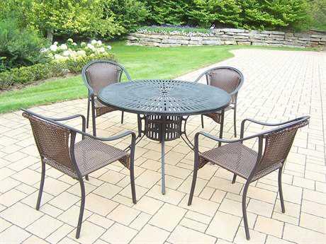 Oakland Living Sunray Tuscany Aluminum 7 Pc. Dining set