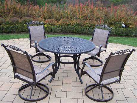Oakland Living Sunray Cascade Aluminum 5 Pc. Dining set