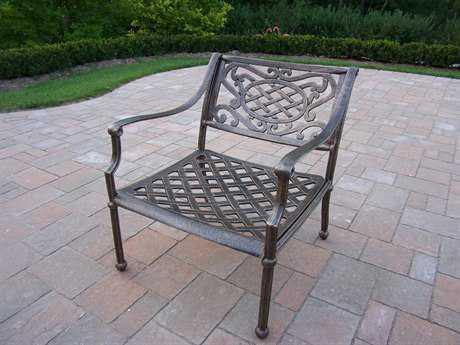 Oakland Living Tacoma Cast Aluminum Deep Seat Club Arm Chair
