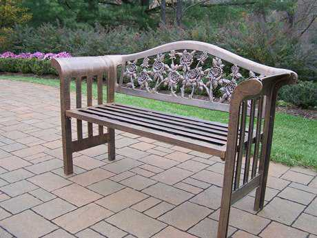 Oakland Living Tea Rose Cast Aluminum Royal Bench in Antique Bronze