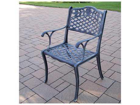 Oakland Living Tea Rose Cast Aluminum Dining Chair in Verdi Grey
