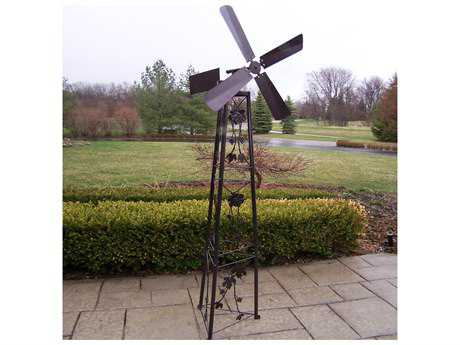 Oakland Living Vineyards Cast Iron Garden Windmill